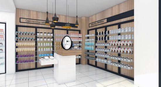 Alexandra Proaño 3d, renders, proyectos comerciales, retail, farmacias, SketchUp, Vray