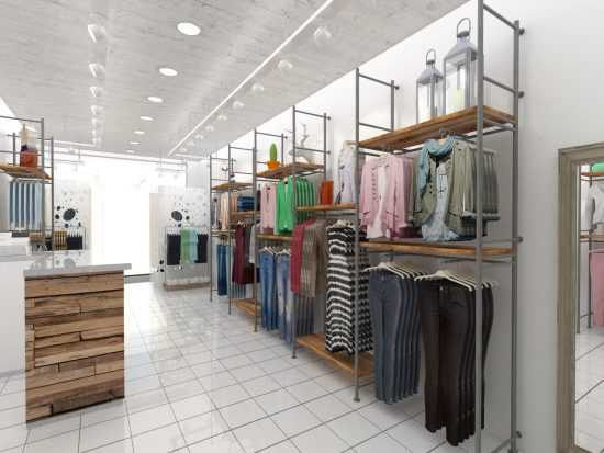 Alexandra Proaño 3d, renders, proyectos comerciales, retail, interiorismo comercial, Euromoda Palestine, SketchUp, Vray