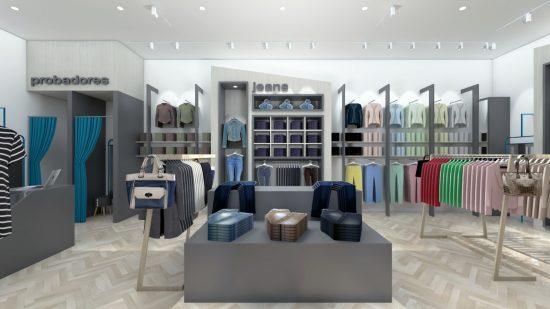 Alexandra Proaño 3d, renders, proyectos comerciales, retail, tienda, SketchUp, Vray