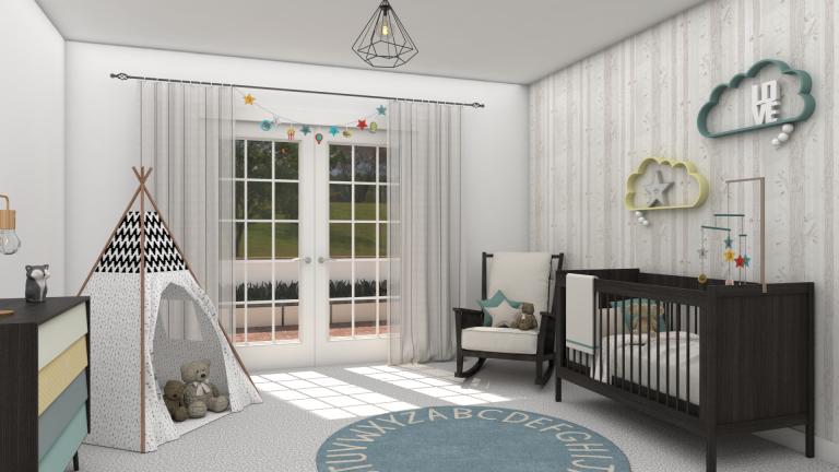 Vivienda unifamiliar AP: dormitorio infantil - Vista 1